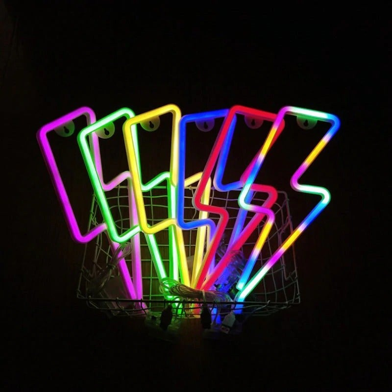 Every Color! LED Light Lightning Bolt Design
