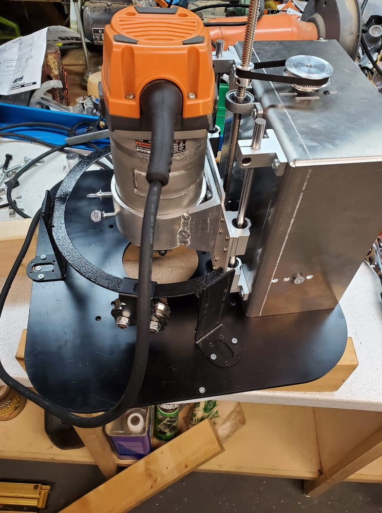 Image of BACKORDERED 225mm Lead Screw Z axis kit  (orange router, blue ring and z axis motor not included)