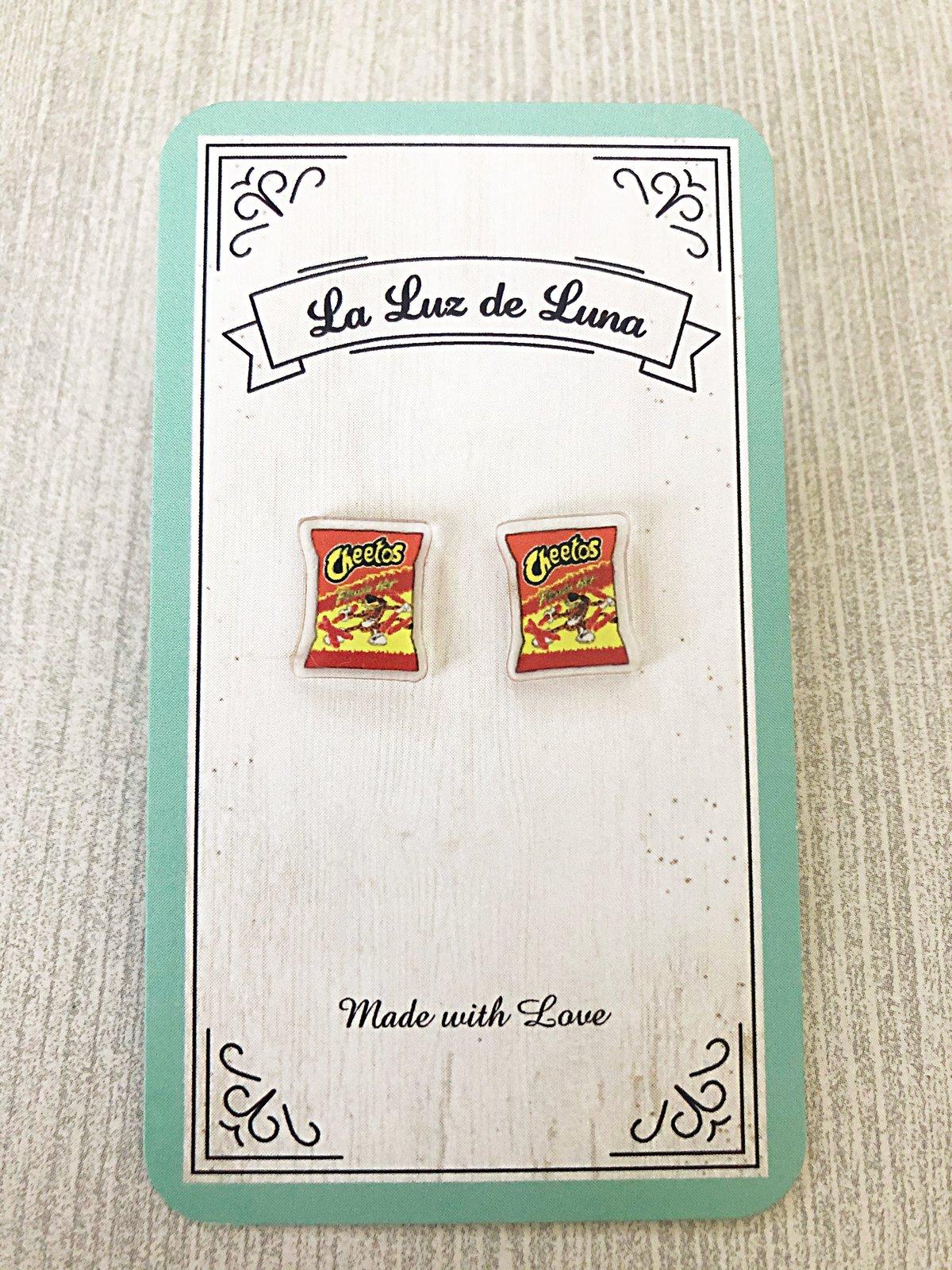 Hot Cheetos Acrylic Studs