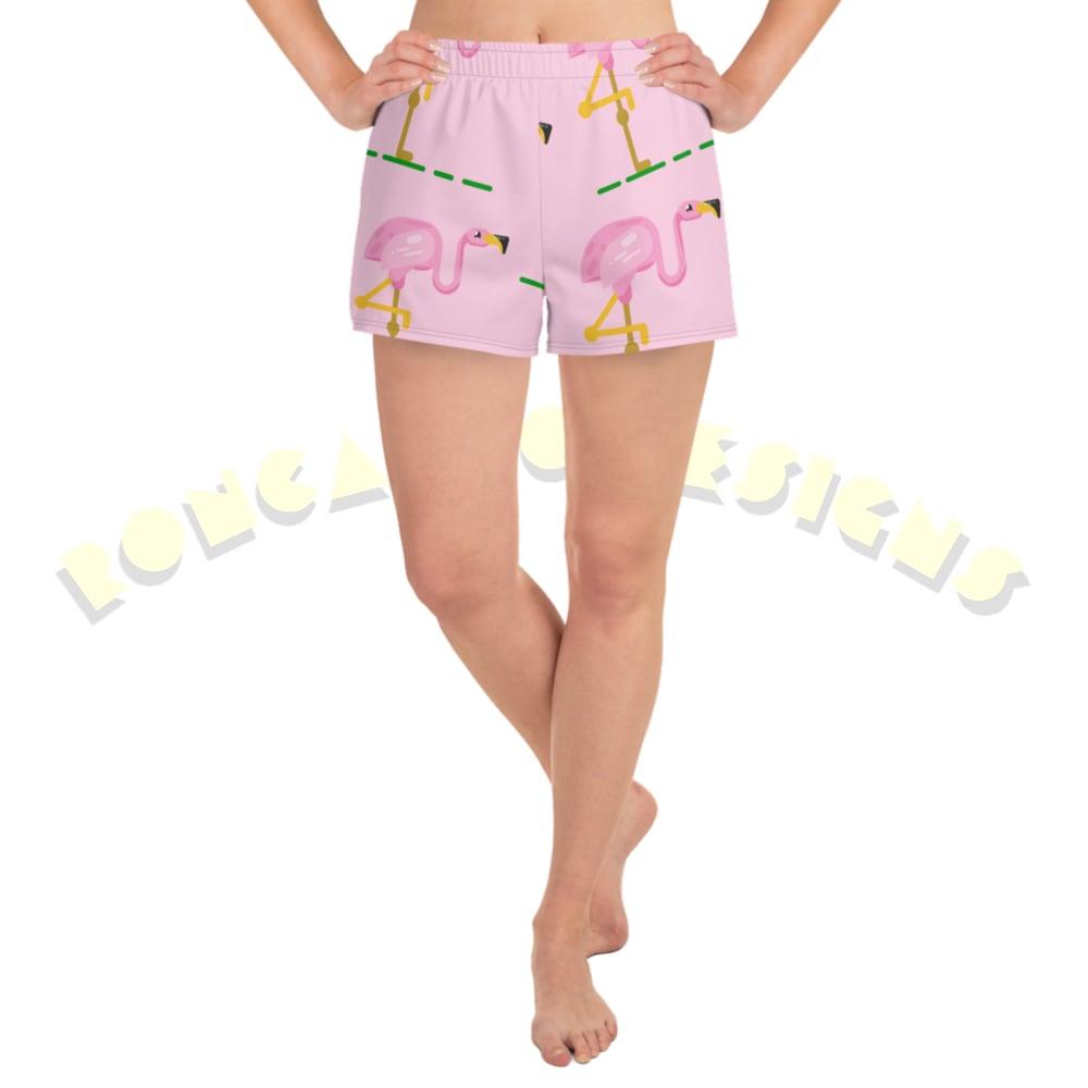 Image of Flamingo female beach shorts