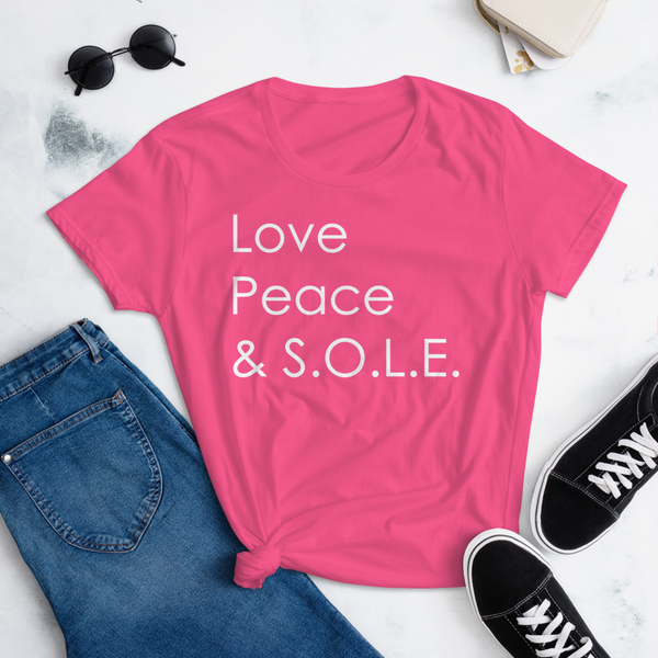 Image of Ladies Love, Peace & S.O.L.E. Tee