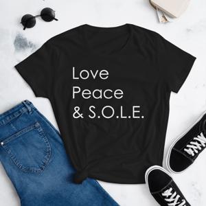 Image of Ladies Love, Peace & S.O.L.E. Tee