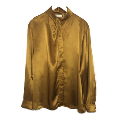 Image of Golden Satin Blouse