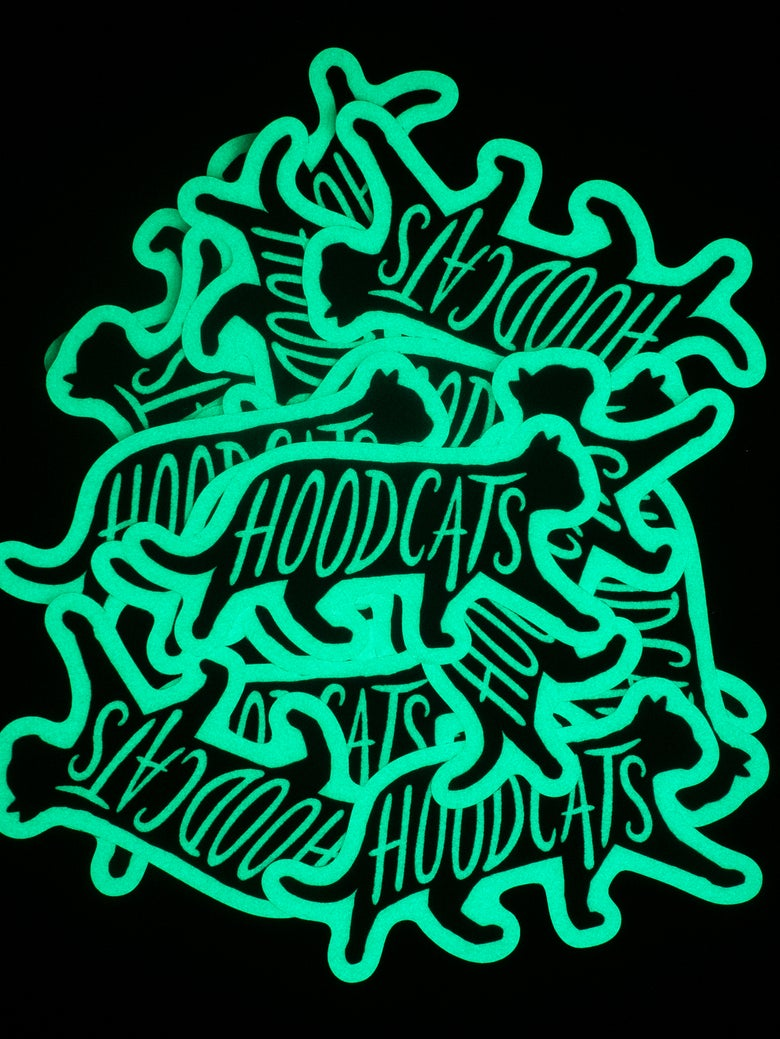 Image of *Glow In The Dark* Hoodcats Catnip Sticker Pack