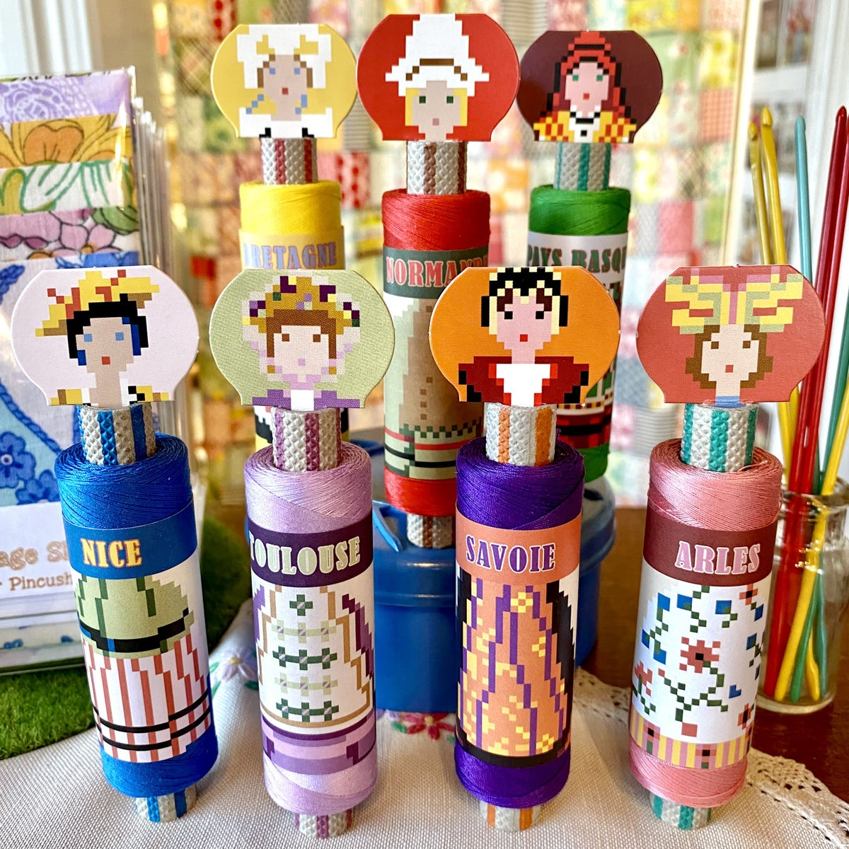Image of Sajou Cotton Spool Dolls