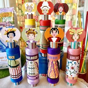 Image of Sajou Cotton Spool Dolls