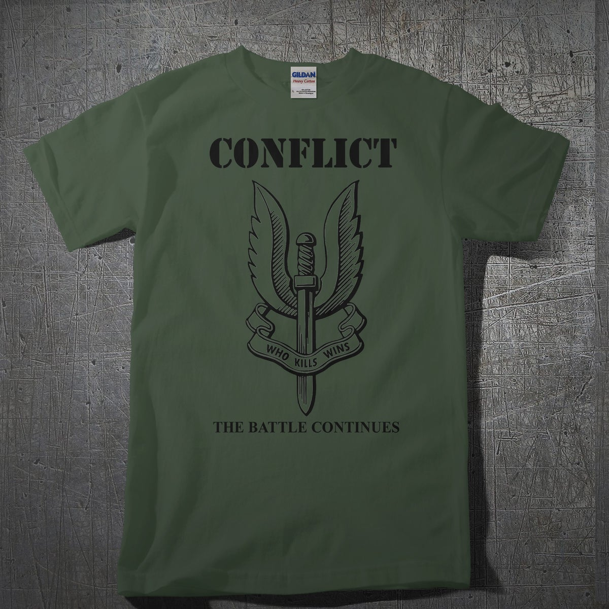 Image of CONFLICT The Battle Continues Army Green
