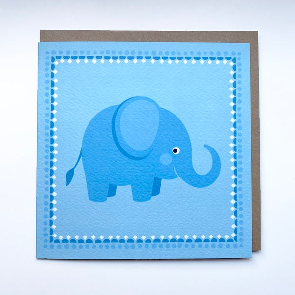 Image of Blue Elephant Card