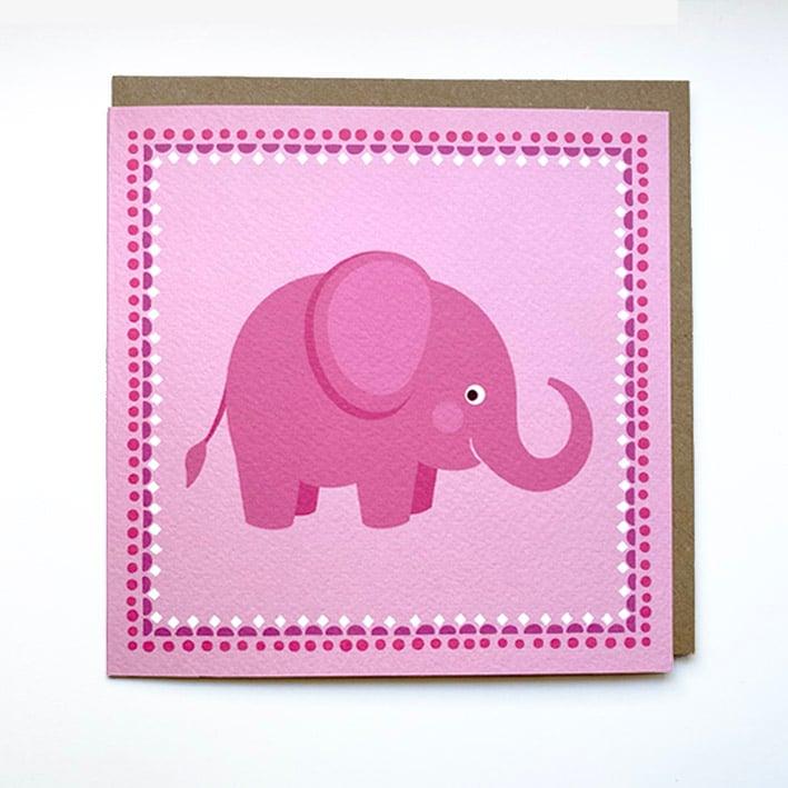 Image of Pink Elephant Card