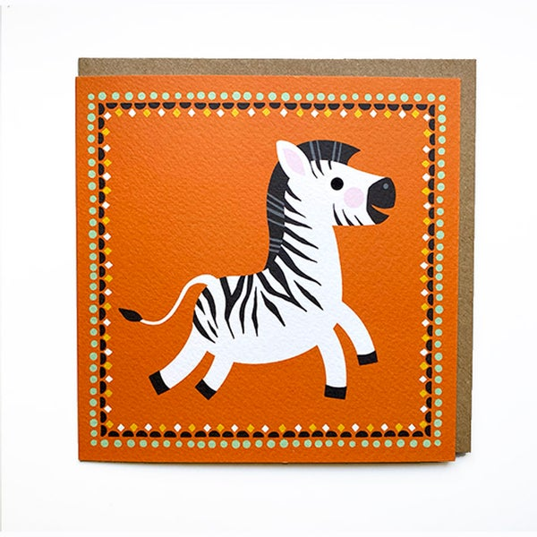 Image of Zebra Card