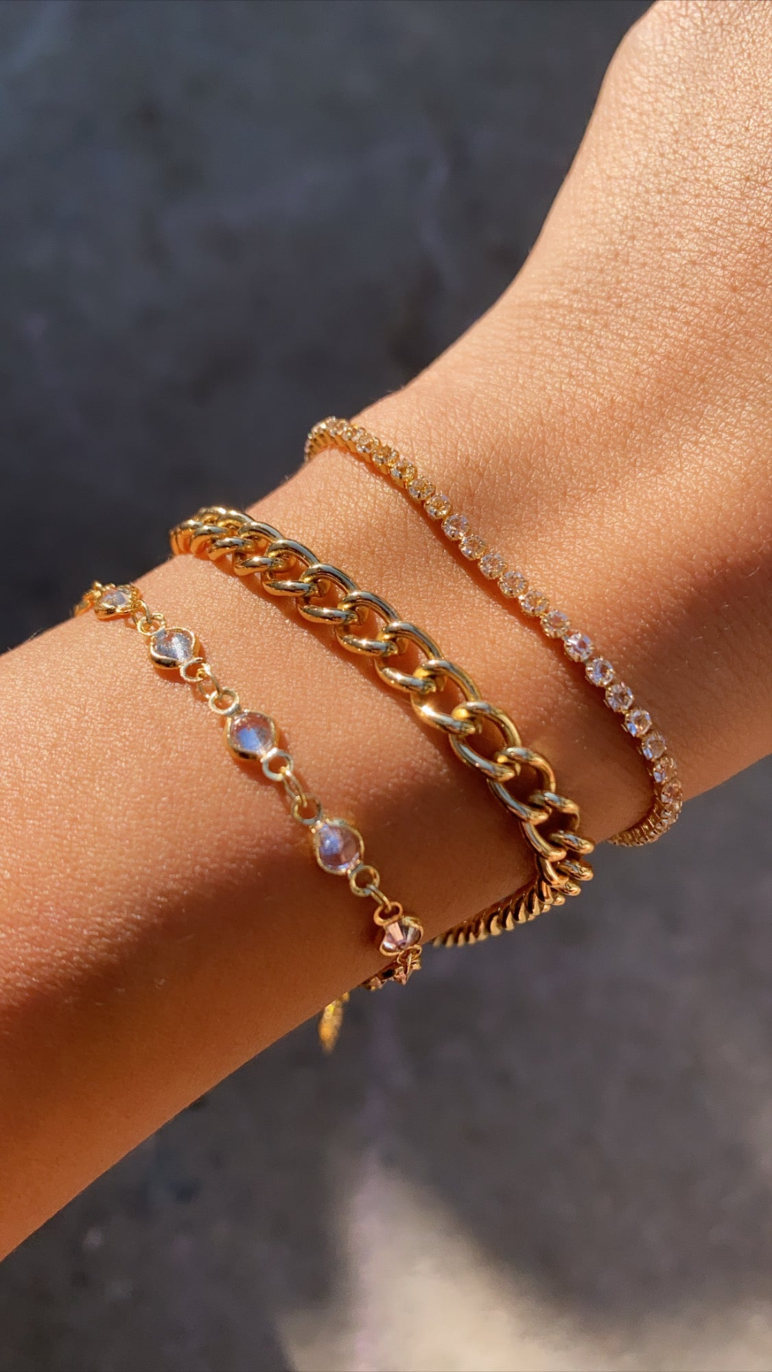 Image of STACKABLE GOLD PLATED BRACELETS