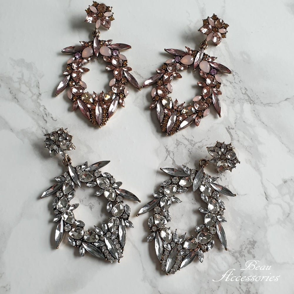 Image of Glamorous Rhinestone Statement Earrings