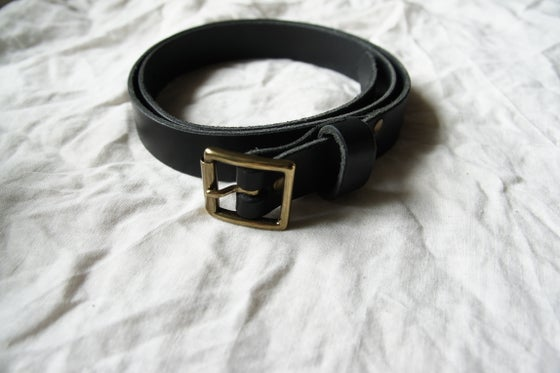 Image of Black Leather Belt