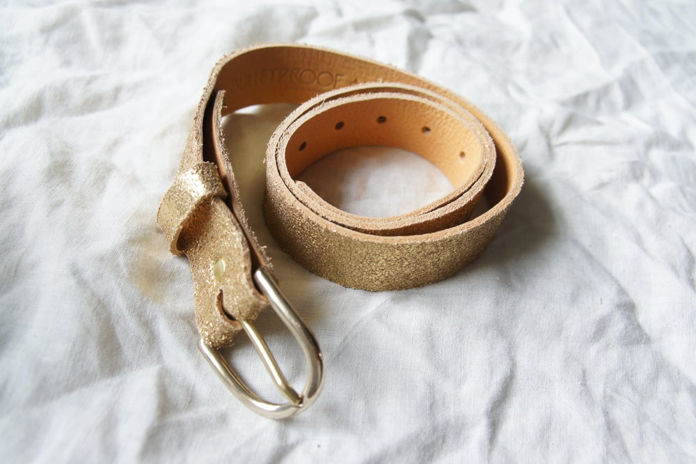 Image of Gold Leather Belt