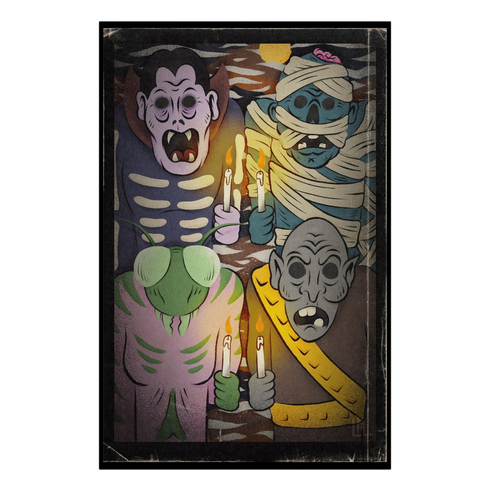 Image of Trick Or Treaters 11 x 17 print
