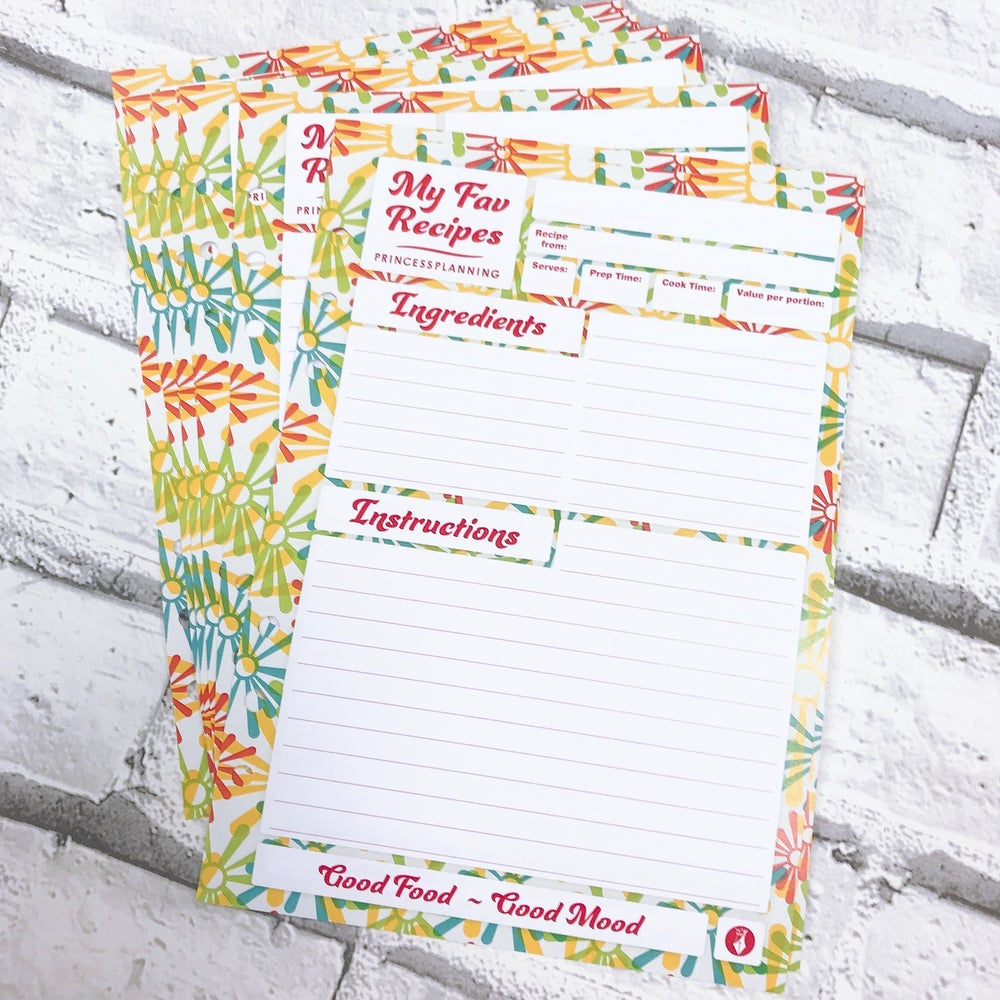 Image of RECIPE ORGANISER INSERTS