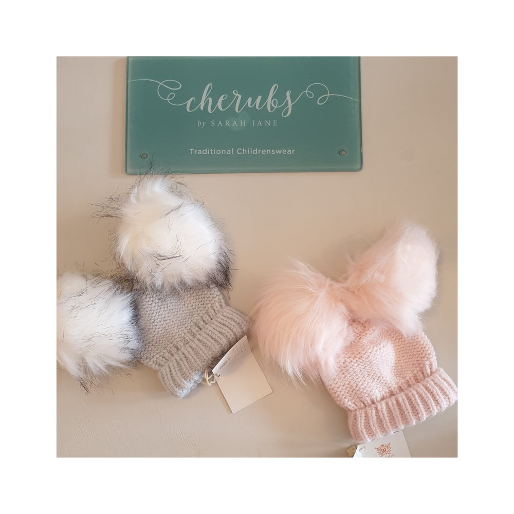 Image of Luxury Faux Fur Double Pom Hats