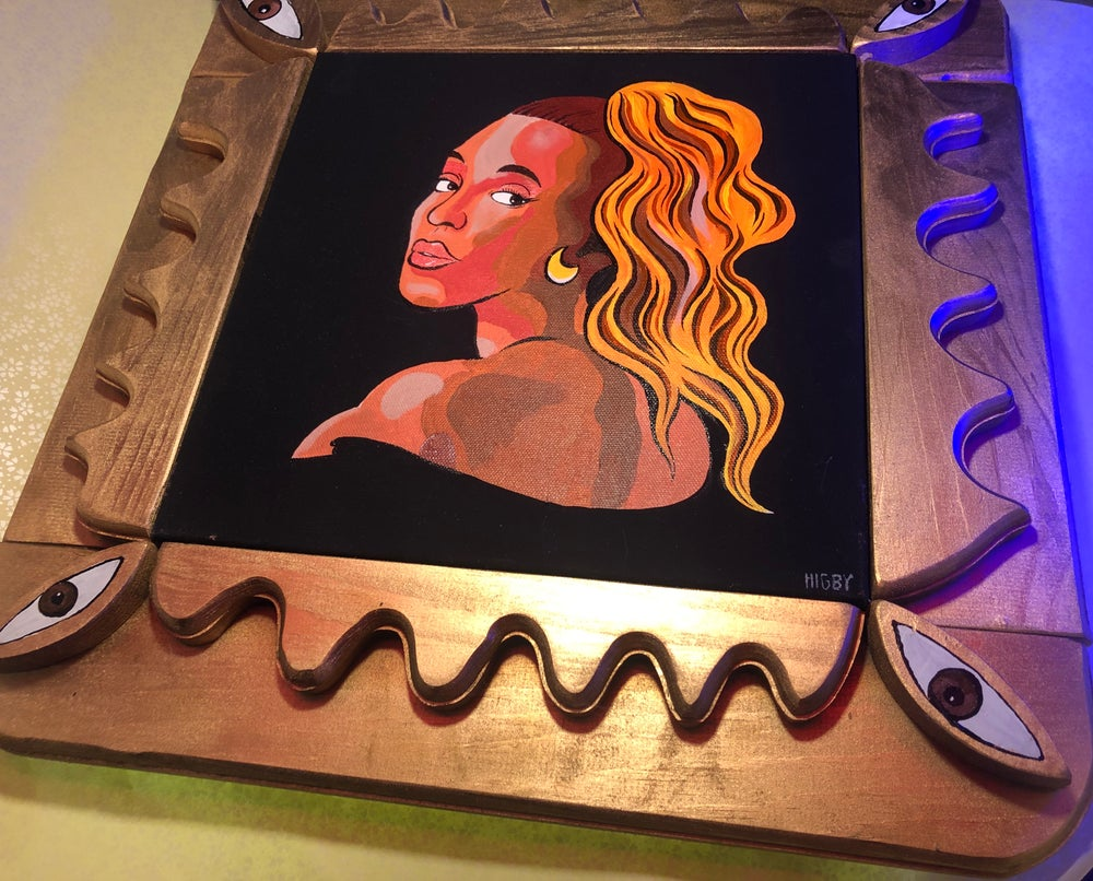 Image of Custom Beyoncé Canvas Painting with 3D frame