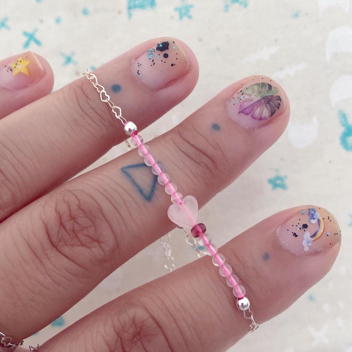 Image of Rose quartz love bracelet