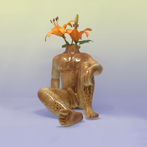 Image of Gogo Boi (at Rest) Vase with 22kt Gold
