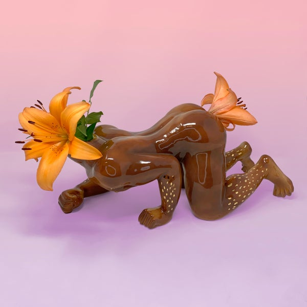 Image of Gogo Boi (Face Down Ass Up) Vase with 22kt Gold