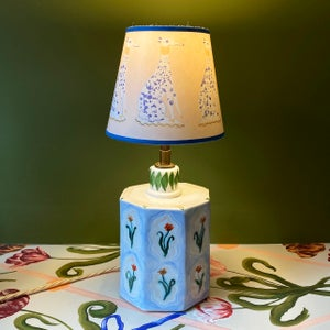 Image of Blue Whippet Lampshade
