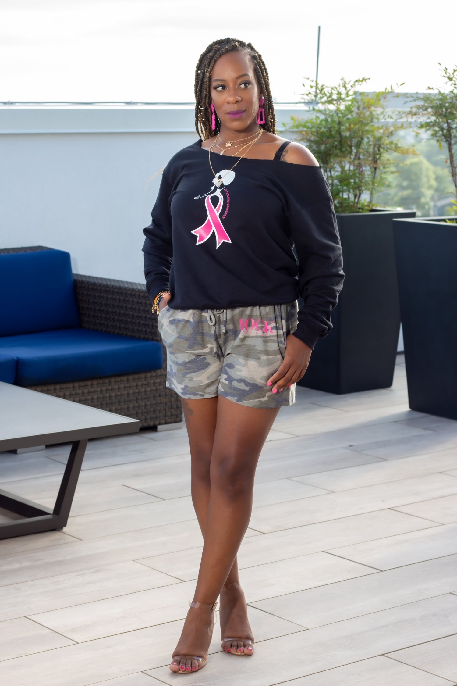 Image of 'She Walks' Off Shoulder BCA Sweatshirt (S-2X)