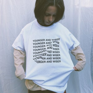 Younger And Wiser T-shirt in White