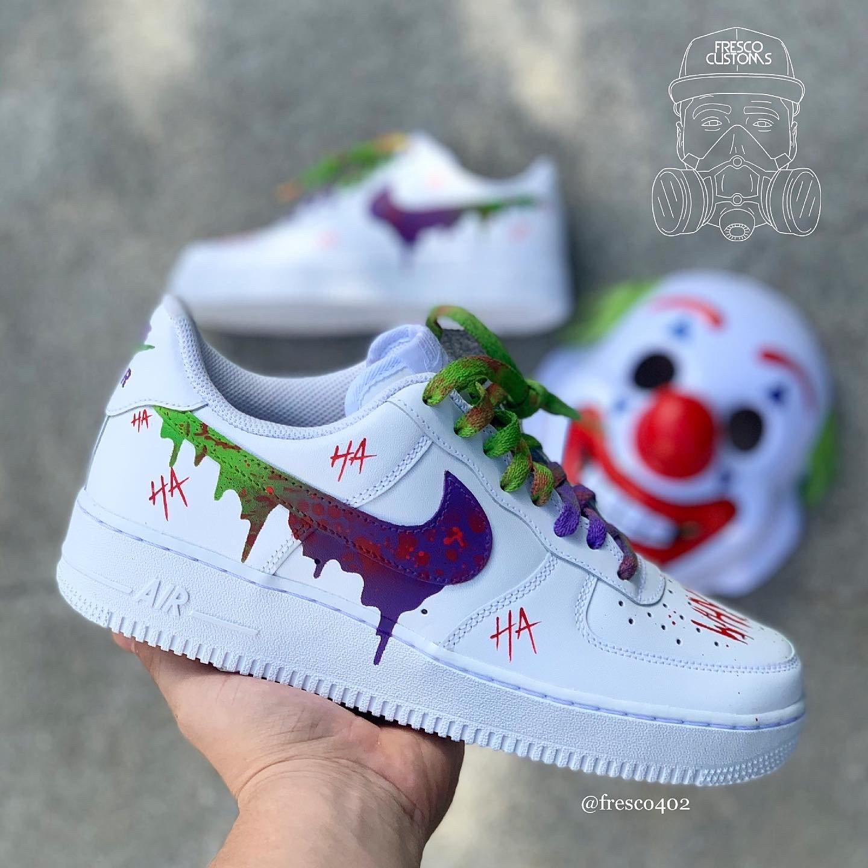 Joker - Custom AF1s Shoes - low tops