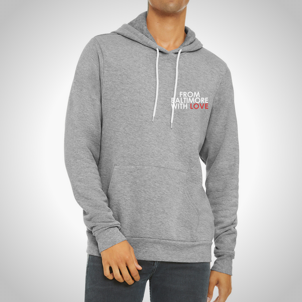 Image of From Baltimore With Love LeftSide Hoodie - Grey