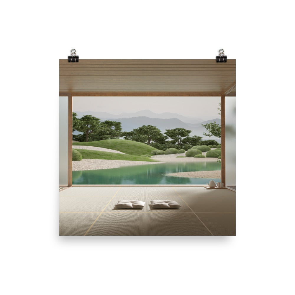 Image of Japanese Garden 01 Photo paper poster