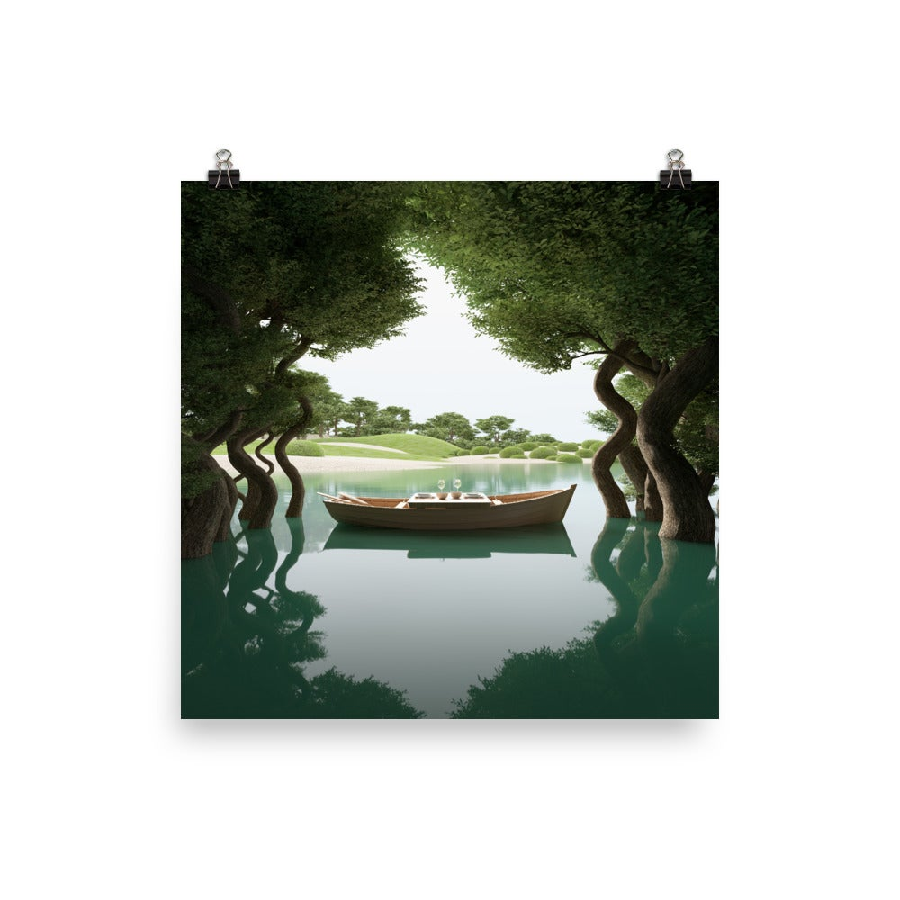 Image of Japanese Garden- Boat Photo paper poster