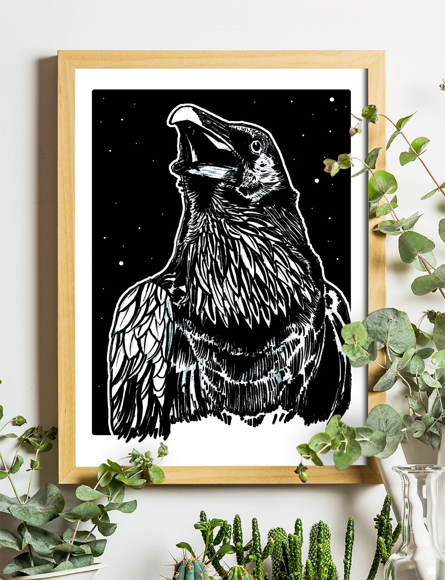 """Image of Raven Two Art Print Signed A3 Size (16"""" x 12"""")"""