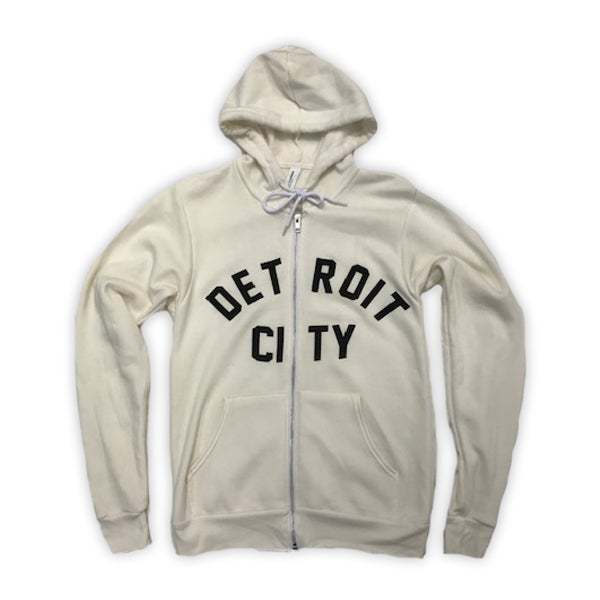 Image of Detroit City Zip Hoodie (Cream)