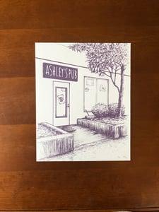 Image of Ashley's Pub fundraising print (B&W)