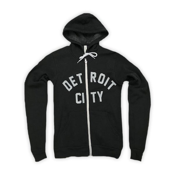 Image of Detroit Zip Hoodie (Black)
