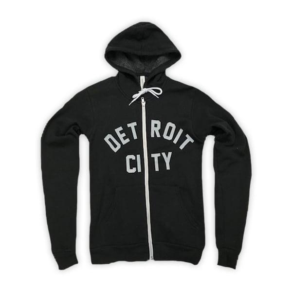Image of Detroit Zip Hoodie (Black)