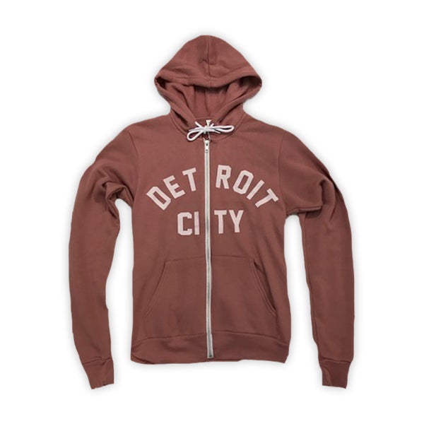 Image of Detroit City Zip Hoodie (Mauve)