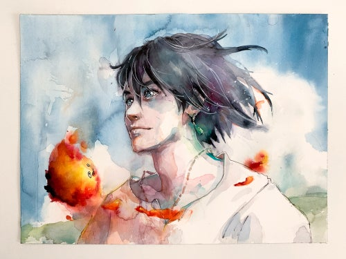Image of howl and calcifer