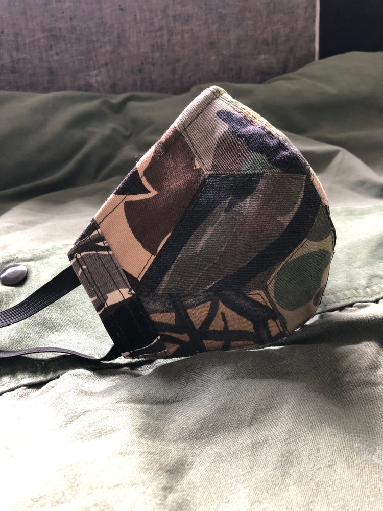 Image of Repurposed Diamond Quilted Camouflage Mask