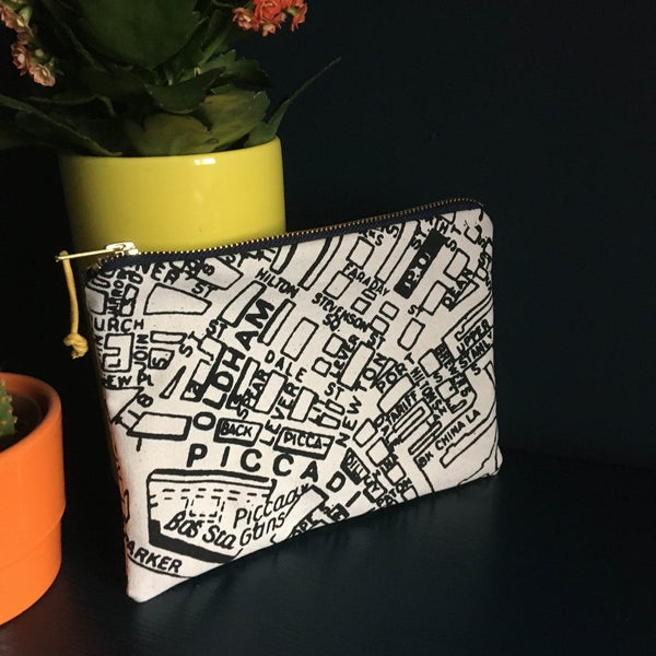 Image of Manchester Map Clutch Purse