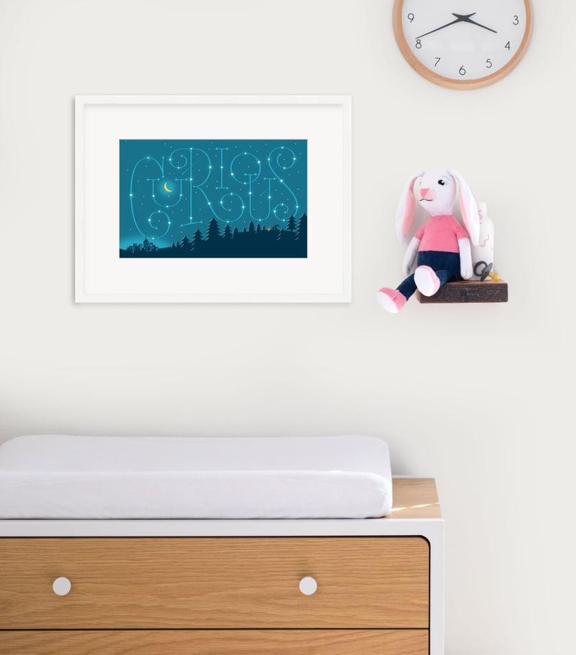 Curious Framed Print
