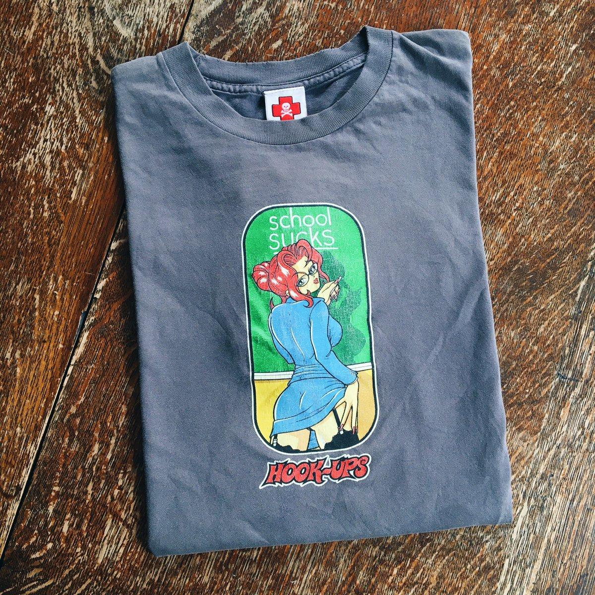 "Image of Original 90's Hook-Ups Skateboards ""School Sucks"" Tee."