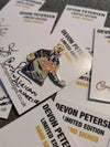 Devon Petersen Limited Edition Pin Badge Hand Signed
