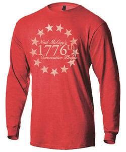 Image of 1776 Pledge LONG Sleeve Shirt. Pre-Order won't ship until week of October 12