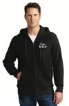 Creston Electric ZIP-FRONT Hooded Sweatshirt, BLACK