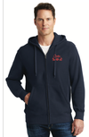 Creston Electric ZIP-FRONT Hooded Sweatshirt, NAVY BLUE