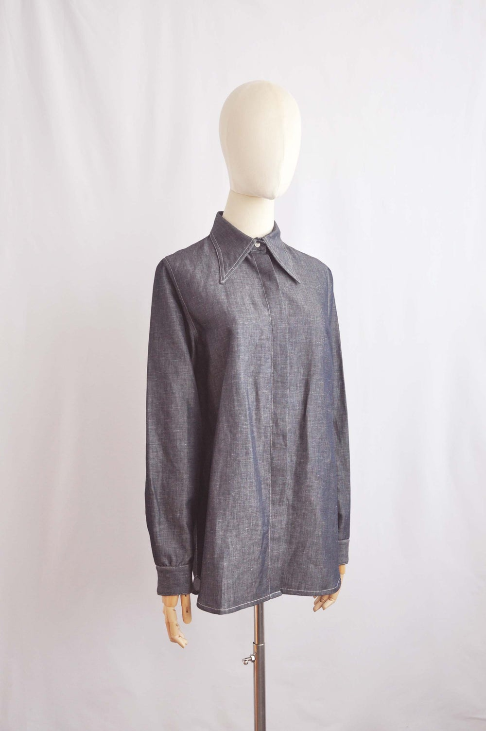 Image of DENIM EFFECT SHIRT