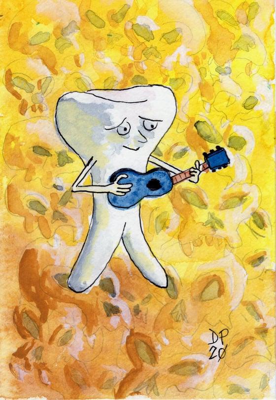 """Image of """"See Ya Later #13"""" Original Watercolor Painting by Dan P."""