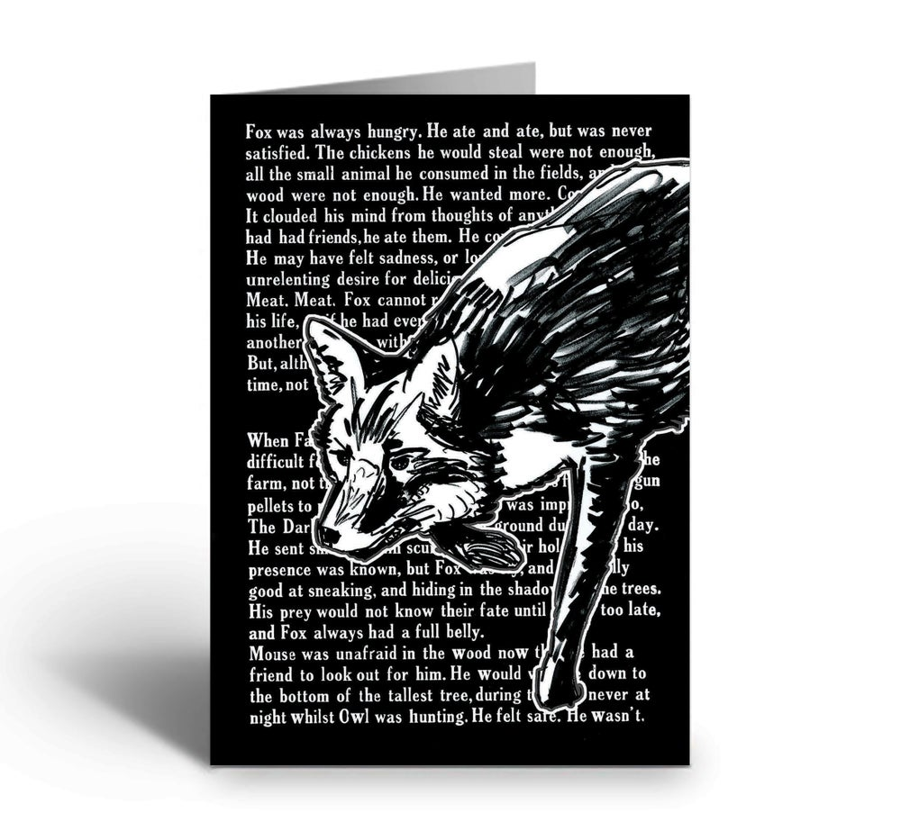 Image of Fox With Text art greetings card